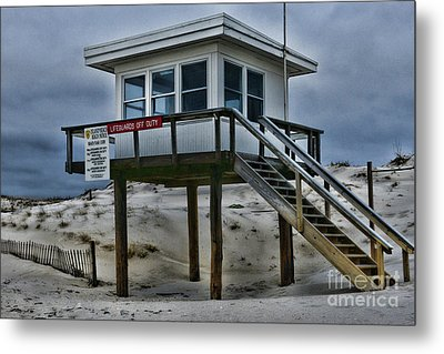 Metal Print featuring the photograph Lifeguard Station 2  by Paul Ward