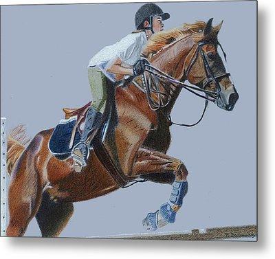 Horse Jumper Metal Print