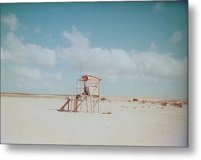 Lifesaver On Beach Metal Print by La FruU photography. Life through my lense