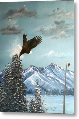 Metal Print featuring the painting Lift Off by Al  Johannessen