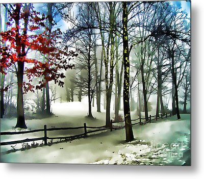 Lifting Fog Metal Print
