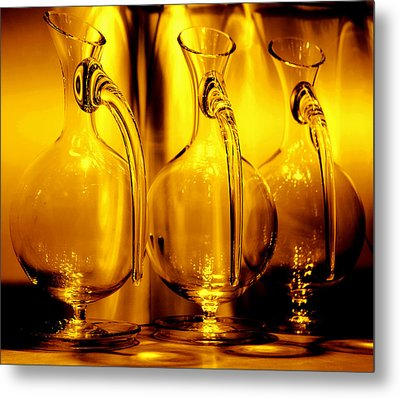 Light And Color Play II Metal Print by Jenny Rainbow