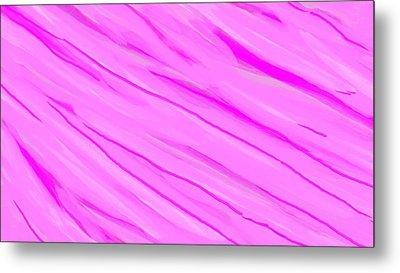 Light And Dark Pink Swirl Metal Print by Linda Velasquez