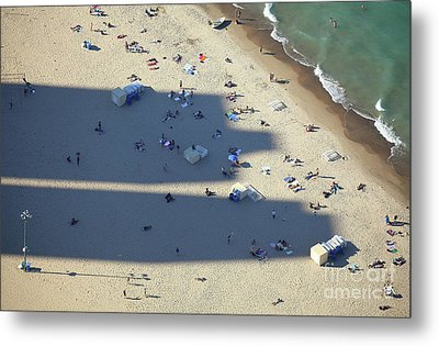 Light And Shadows On The Beach Metal Print by Holger Ostwald