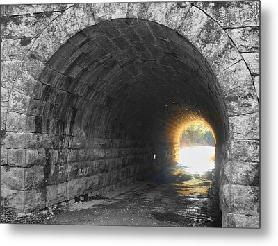 Light At The End Metal Print by Kathy Jennings