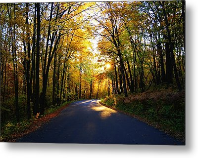 Light At The End Of The Road Metal Print by Joe Medina