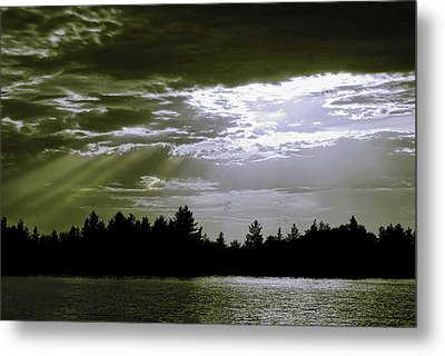 Light Blast In Evening Metal Print