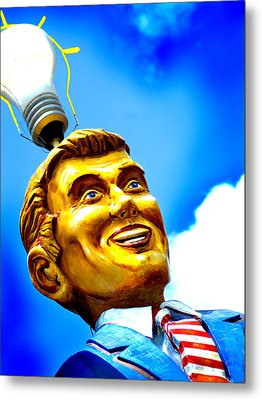Light Bulb Man Metal Print