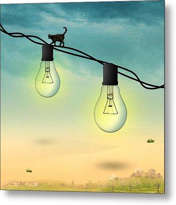 Light Bulb Metal Print by Mark Ashkenazi