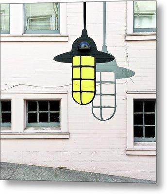 Light Bulb Mural Metal Print by Julie Gebhardt