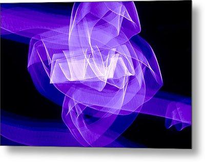 Light Bulb Purple Metal Print by Kevin Blackburn