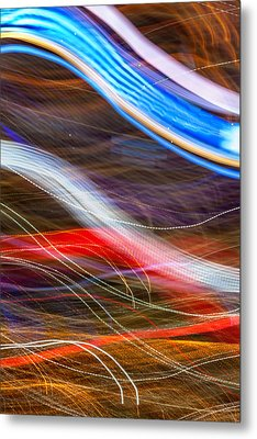 Light Flow Metal Print by Az Jackson