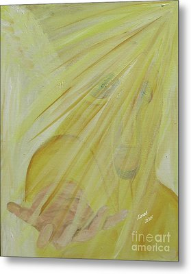 Light Of God Enfold Me Metal Print