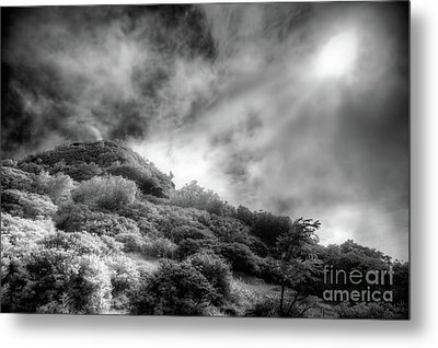 Metal Print featuring the photograph Light Of Hope On Craggy Dome by Dan Carmichael