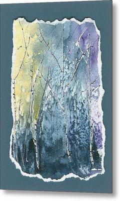 Light On Bare Trees 2 Metal Print