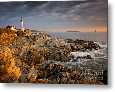 Light On Portland Head Metal Print