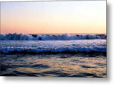 Metal Print featuring the photograph Light On The Wave Tops 4 by Lyle Crump