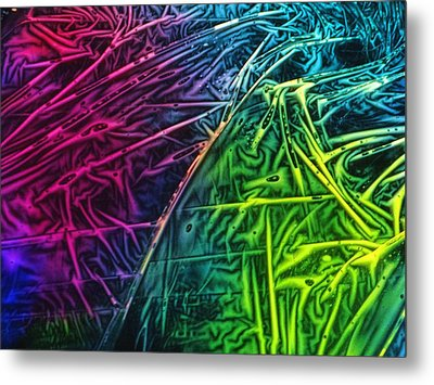 Light Painting Colors Abstract Experimental Chemiluminescent Photography Metal Print by David Mckinney