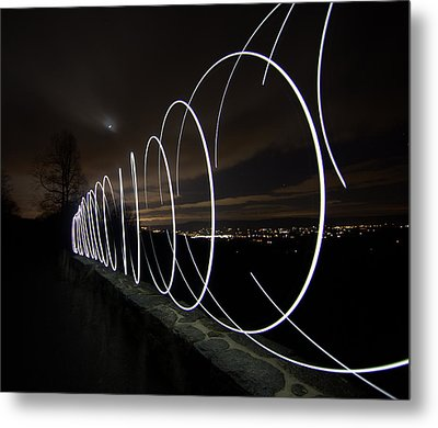 Light Painting In Snp Metal Print by Shannon Louder