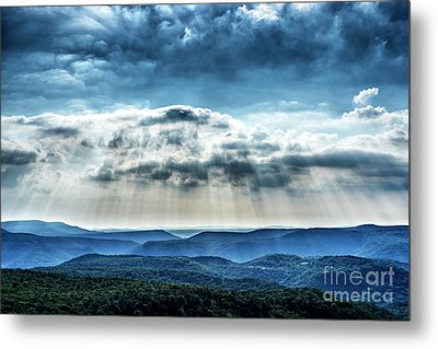 Metal Print featuring the photograph Light Rains Down by Thomas R Fletcher