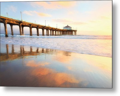 Light Reflections Metal Print by Nicki Frates