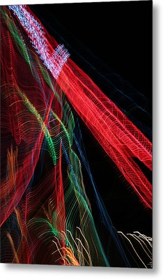 Light Ribbons Metal Print