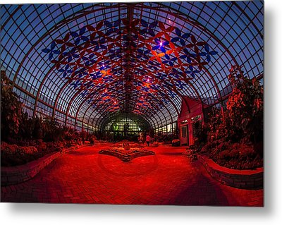 Light Show At The Conservatory Metal Print