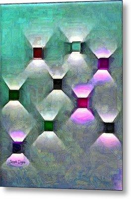 Light Spots Metal Print