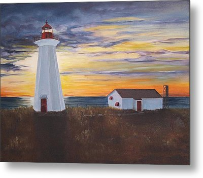 Metal Print featuring the painting Light The Way by Diane Daigle