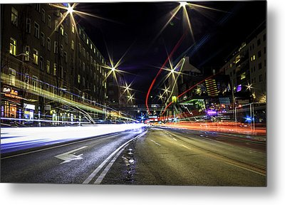 Metal Print featuring the photograph Light Trails 2 by Nicklas Gustafsson