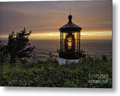 Light Up The Lighthouse Metal Print by Moore Northwest Images