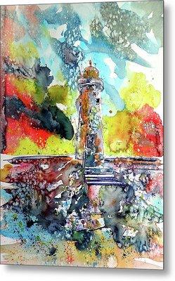 Lighthouse After Storm Metal Print by Kovacs Anna Brigitta