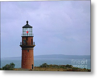 Lighthouse At Dusk- Marthas Vinyard Metal Print