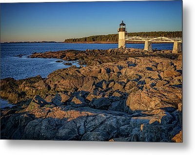 Lighthouse At Marshall Point Metal Print