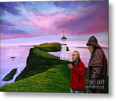 Lighthouse At Mykines Faroe Islands Metal Print by Paul Meijering