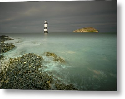 Lighthouse At Penmon Point Metal Print by Andy Astbury