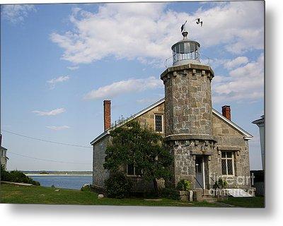Lighthouse At Stonington Ct Metal Print