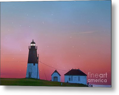 Metal Print featuring the photograph  Lighthouse At Sunrise by Juli Scalzi