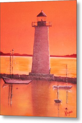 Lighthouse Metal Print by Barbara Hayes