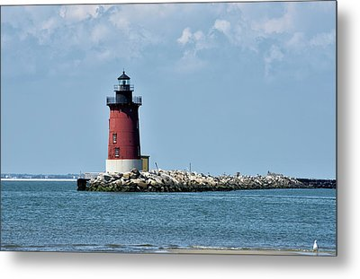 Metal Print featuring the photograph Delaware Breakwater East End Lighthouse - Lewes Delaware by Brendan Reals