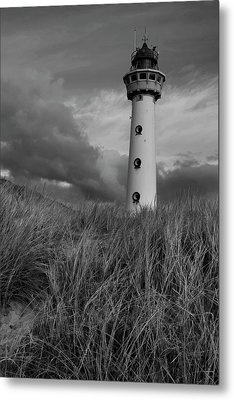 Lighthouse Bw Metal Print