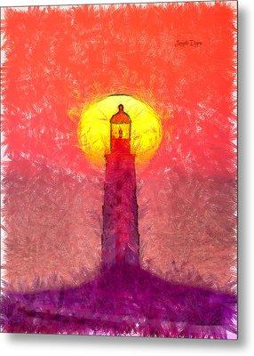 Lighthouse - Da Metal Print