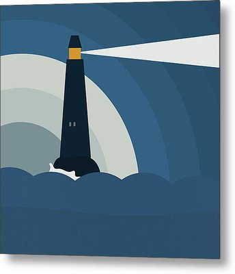 Lighthouse Metal Print by Frank Tschakert