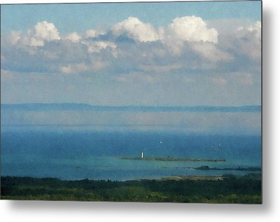 Lighthouse  From The Mountain  Metal Print