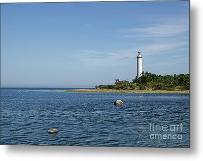 Metal Print featuring the photograph Lighthouse In The Baltic Sea by Kennerth and Birgitta Kullman