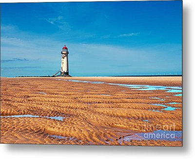 Lighthouse In The Sun  Metal Print