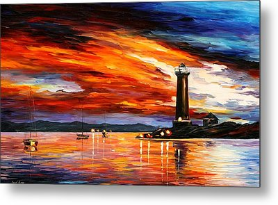 Lighthouse Metal Print by Leonid Afremov