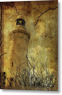 Metal Print featuring the digital art Lighthouse by Margaret Hormann Bfa
