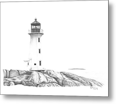 Lighthouse Of Peggy's Cove Metal Print