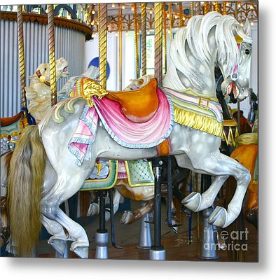 Lighthouse Park Carousel D Metal Print